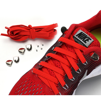 No Tie Shoe laces Flat  Elastic Shoelaces High quality Metal Buckle Sneakers Shoelace Kids And Adult Unisex Lazy laces 1 Pair 1 pair gradient sport shoelaces fashion elastic shoe strings high quality black green canvas personality athletic flat laces