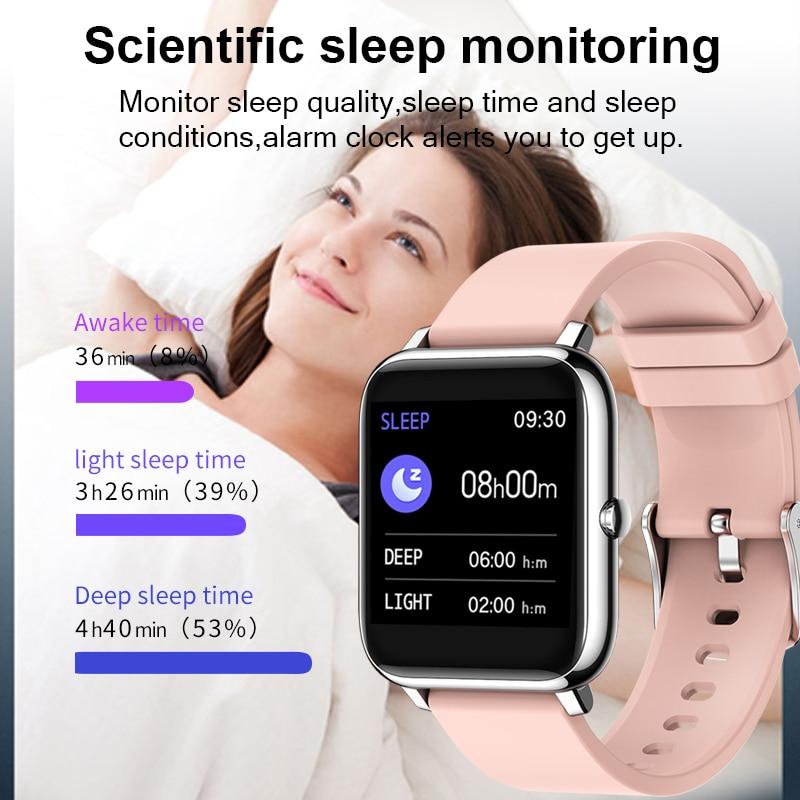 Смарт часы для мужчин и женщин спортивные фитнес трекер монитор