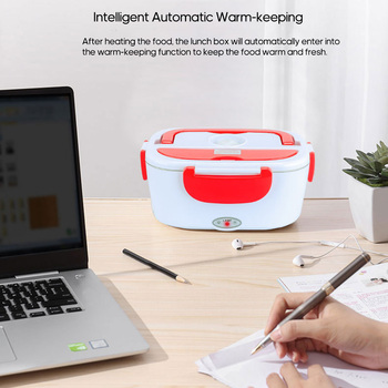 New Lunch Box Plastic/Stainless Steel Heated Lunchbox Portable Food Warmer for Home Office Car Use Food Container Kids Lunch Box