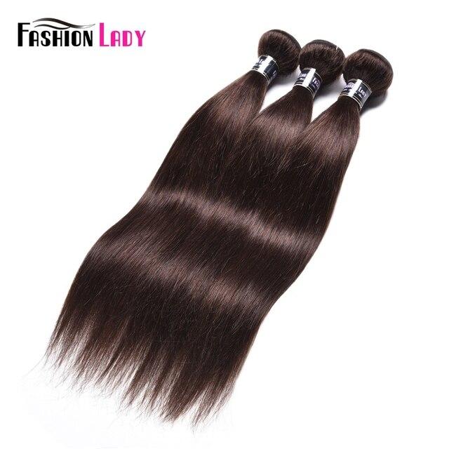 אופנה ליידי מראש בצבע מלזי ישר שיער חבילות חום כהה צבע #2 שיער טבעי הארכת 1/3/4 צרור לחפיסה שאינו רמי