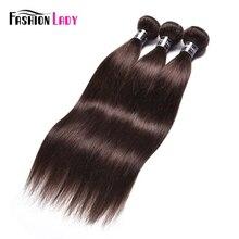 Senhora da forma pré colorido malaio feixes de cabelo reto cor marrom escuro #2 extensão do cabelo humano 1/3/4 pacote por pacote não remy