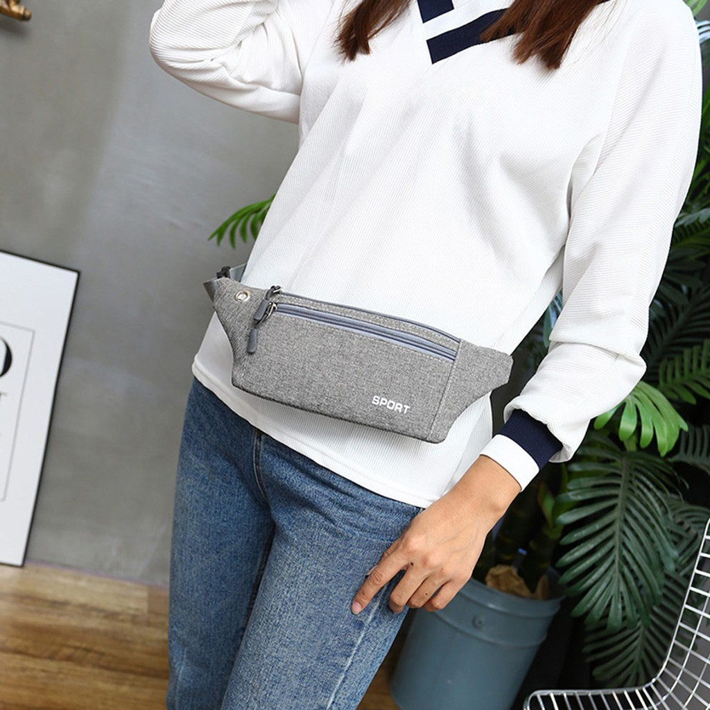 Women Men Multi-function Pockets Outdoor Sport Leisure Messenger Waist Packs Bag Geometric Waist Packs Chest Phone Pouch #R5