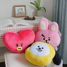 Kpop-almohada de felpa con forma de perro, conejo, oveja, Koala, galletas, caballo, sofá, regalo para niña