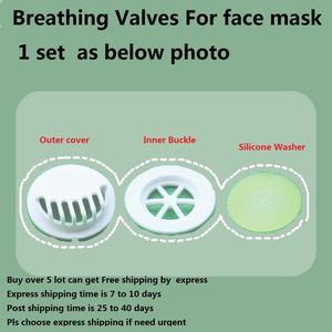 100pcs/bag Black White Color Breathing Valves Breathing Exhalation Valve