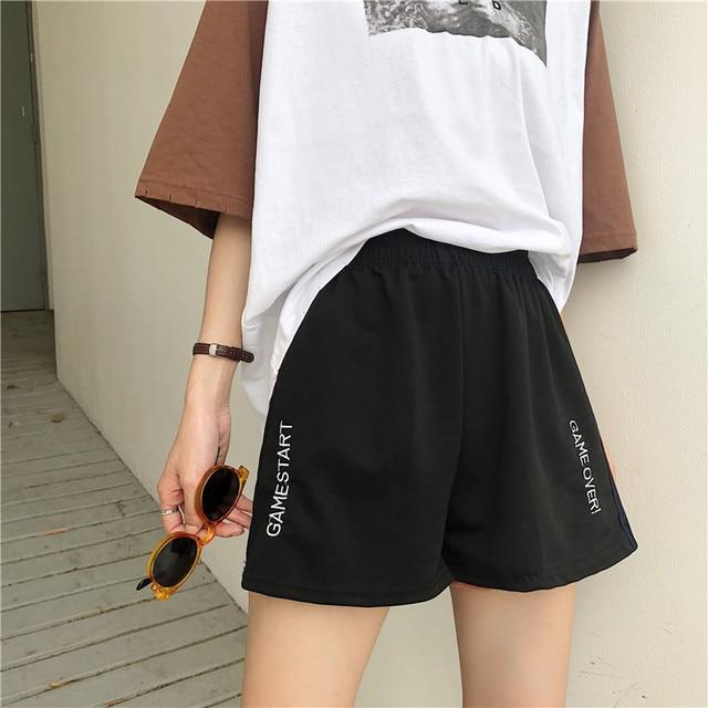 Summer vintage track shorts women  6