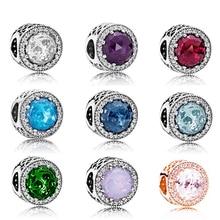 Nouveau 2018 plus récent 100% 925 en argent Sterling breloque coeurs radiants avec clair Cz or Rose Pand perles ajustement Bracelet à bricoler soi même en gros