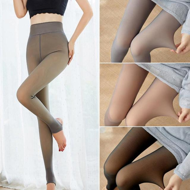 Tools Accessories Legs Fake Translucent Warm Fleece Pantyhose Tight Stocking Toiletry Kits Hot Sell