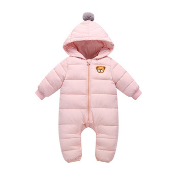 Baby Romper Infant Winter Newborn Baby Boys Clothes Hooded Baby Jumpsuit Snowsuit Snow For Girls Overalls Unisex Baby Clothes iyeal newborn baby snowsuit children infant winter coat warm liner hooded zipper jumpsuit boys girls duck down outwear overalls