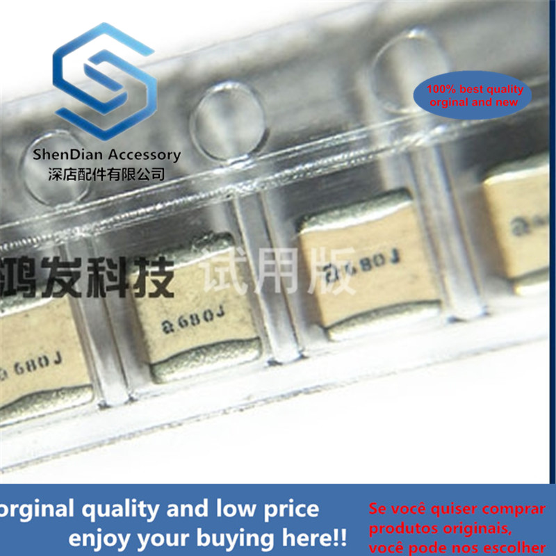 5pcs 100% Orginal New 100B680JT500XT High Q Value Frequency Voltage Capacitor 1111 68PF J 500V