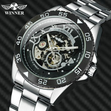 WINNER Official Automatic Watch Men Skeleton Mechanical Mens Watches