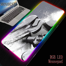MRGBEST Star Wars Large Lock Game Player RGB Mouse Pad XXL LED Backlight Pads Mause Computer Table Mat Multiple Choice Mouse-pad