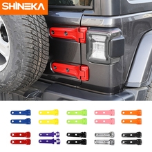 SHINEKA Car Sticker for Jeep Wrangler JL Car Trunk Tailgate Door Hinge Cover ABS Exterior Accessories For Jeep Wrangler JL 2018+