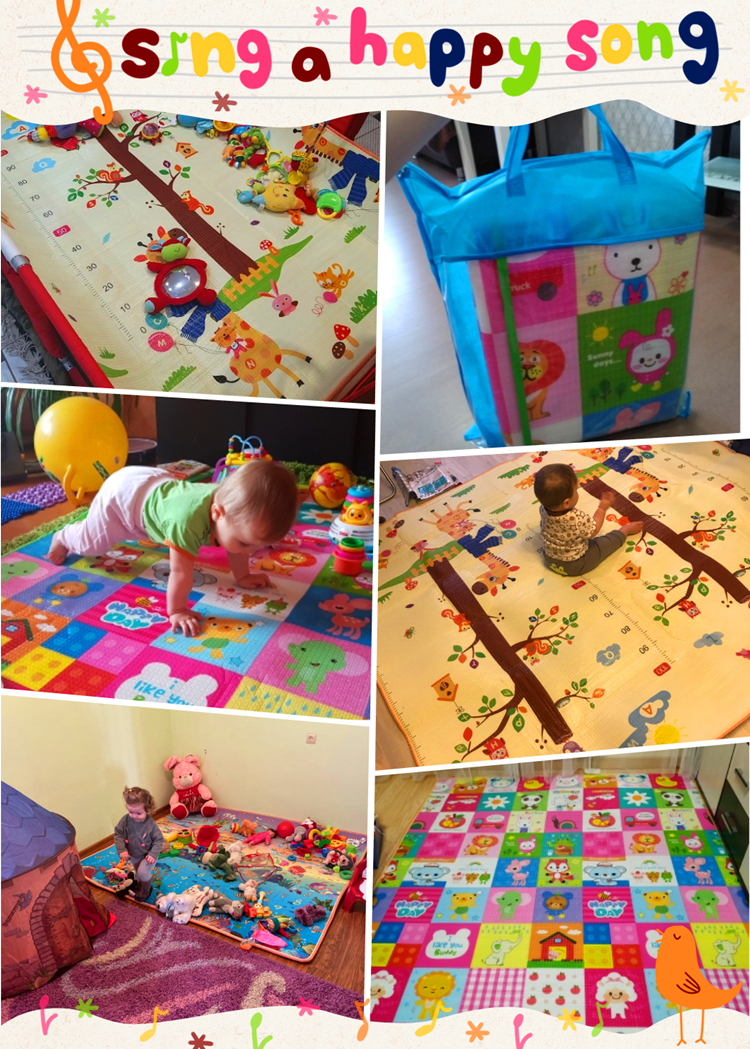 Hef8174dc61e740729dd5e586d86af85cr Infant Shining 200*180*1.5CM Baby Play Mat Thickening Eco-friendly EPE Children Playmat Cartoon Non-slip Carpet Living Room Mat