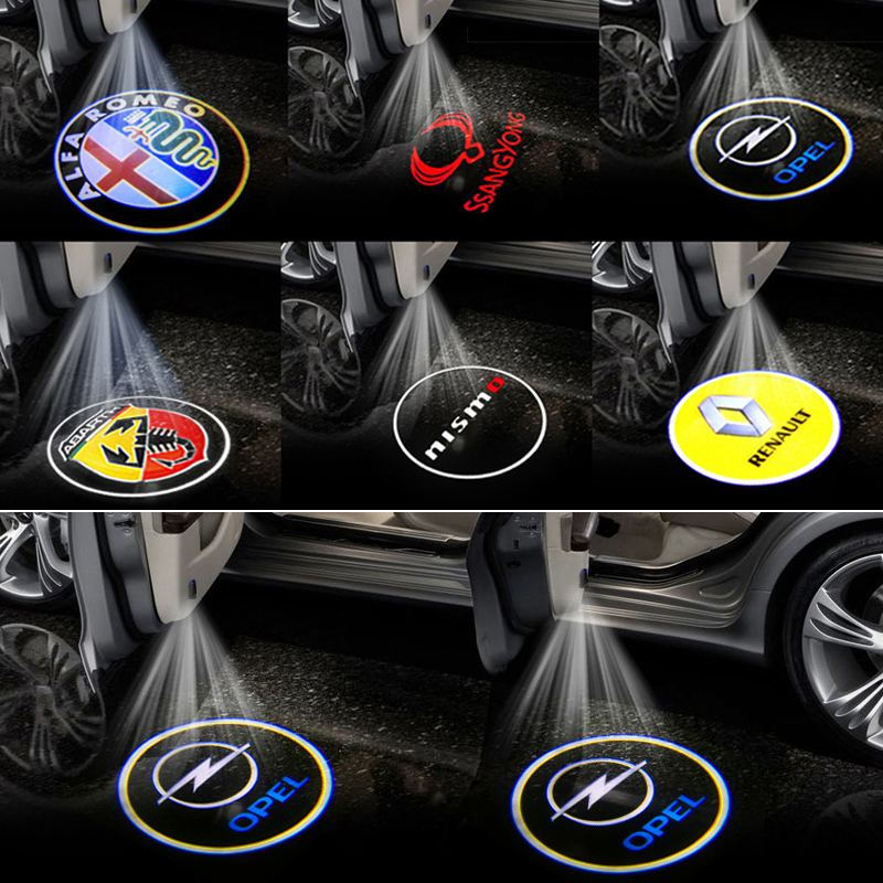 2 шт. автомобильный брелок с логотипом, добро пожаловать светильник Авто дверные украшения светодиодный светильник для Ауди VWs фольксвагено...