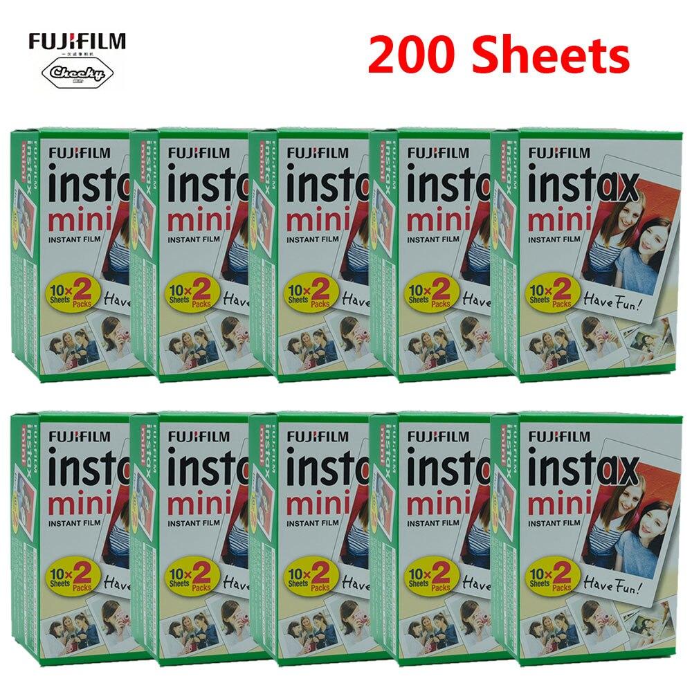 Белая пленка Fujifilm Instax Mini, 10-200 листов, для камеры мгновенного фото FUJI Mini 9 Mini 8 7s 70 90 Fujifilm Instax Mini
