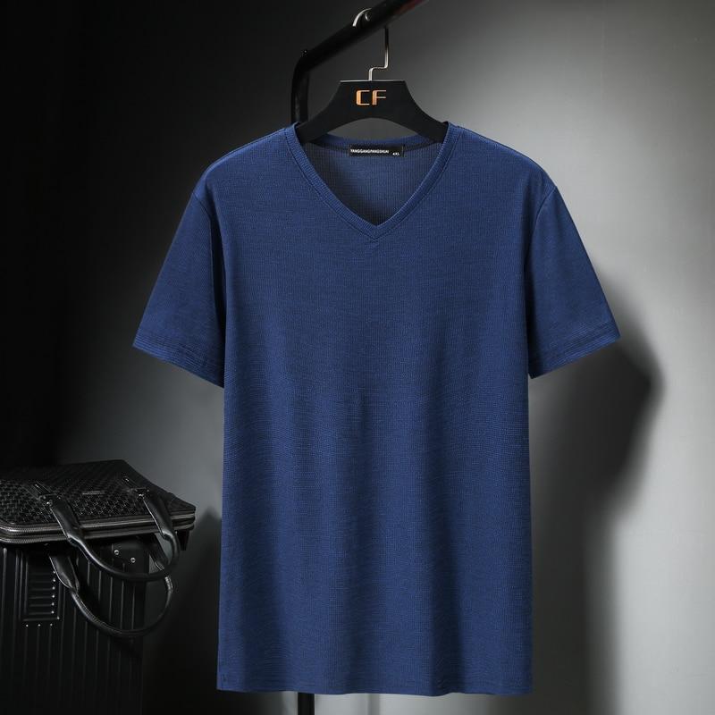 11XL 10XL 9XL 8XL 7XL 6XL XXXXL T-shirt For Men V-neck T Shirts Summer Hot T Shirt Comfortable Japanese Tee Fashion Short Sleeve