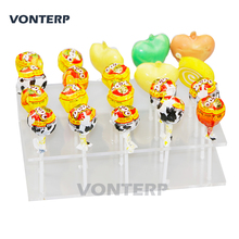 HMROVOOM  20 holes Transparent Plexiglass Acrylic Lollipop Display Stand/Acrylic lollipop stand/Holder clever lollipop