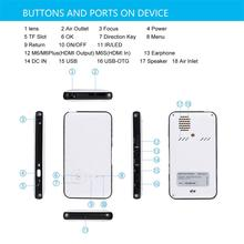 White Smart Mini M6 DLP Projector Portable Wifi Projector DLNA Android 4.4 4.0 Built-in 5000mAh Battery Projector