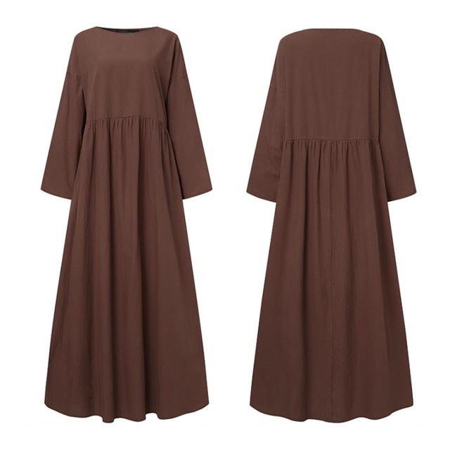 extremely comfortable long casual dress, long sleeves day to night 4