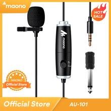 MAONO mikrofon krawatowy bezprzewodowy klips na klapie mikrofon 6M Condersor Mic na Podcast lustrzanka cyfrowa Smartphone Laptop AU 101