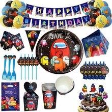 Entre nós tema festa suprimentos descartáveis utensílios de mesa copo placa guardanapo palha balão feliz aniversário criança decoração favorita