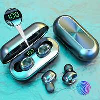 New B5 TWS Wireless Earphones Bluetooth Headphones 5.0 Earbuds Waterproof 9D Stereo Music Headset LED Display with Micphones