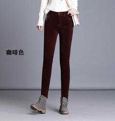 2019 autumn and winter new jeans women wearing fleece pants fleece pants feet pants thick cotton pants pencil pants  DY593-01-14