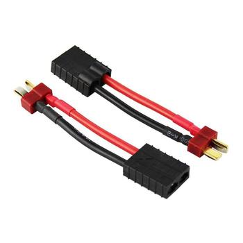 Youme 2pcs Male Deans T to Female TRX Traxxas Connector Adapter Cable, RC Lipo Battery Charger Conversion Adapter Wire for Traxx image