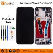 """6.59 """"מקורי עבור Huawei P חכם פרו LCD תצוגת מסך מגע Digitizer עצרת עבור Huawei P חכם פרו 2019 LCD עם מסגרת"""