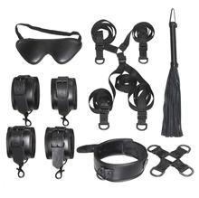 Under Bed Restraint Bondage Fetish Slave Handcuffs & Ankle Cuffs BDSM Eye Mask Whip Sex Toys For Woman  Adult Erotic Toy