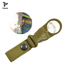 TOtrait Outdoor Tools Hiking Military Nylon Webbing Buckle Hook Water Bottle Holder Clip Climbing Carabiner Belt Backpack Hanger hot sale new outdoor tactical nylon webbing buckle hook water bottle holder clip edc zw 01