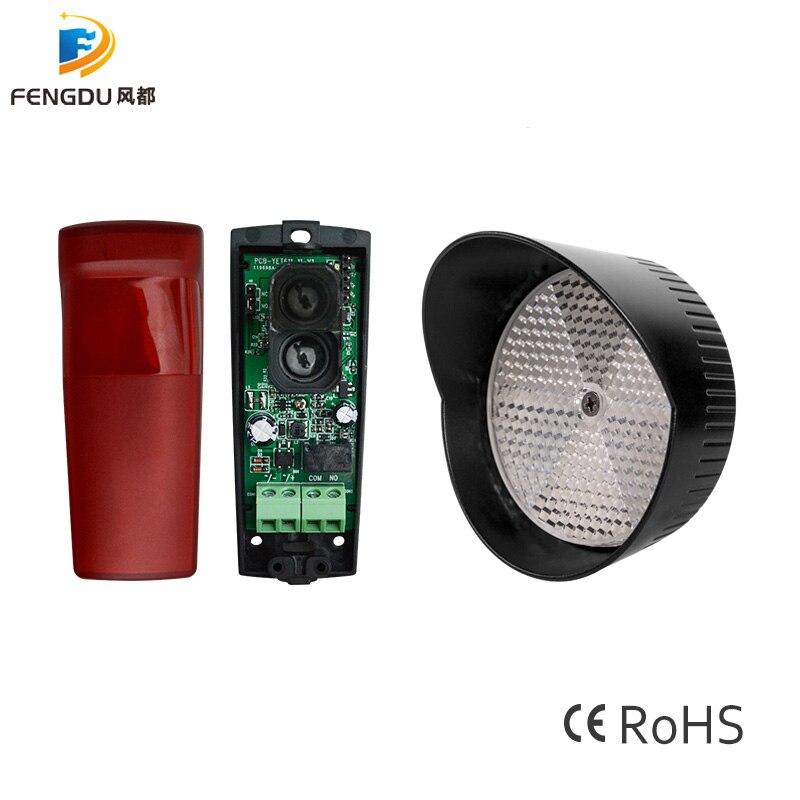 12M Automated Gate Safe reflective Infrared Detector Sensor Swing Sliding Garage Gate Door Safety Infrared Photocells