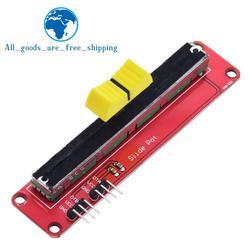 Скользящий потенциометр TZT 10K, Линейный модуль с двойным выходом для электронного блока Arduino AVR