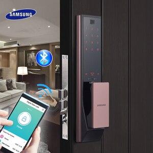 SAMSUNG цифровой отпечаток пальца Bluetooth дверной замок без ключа SHP-DP738/SHP-DP739 английская версия большой Eurp Moritse
