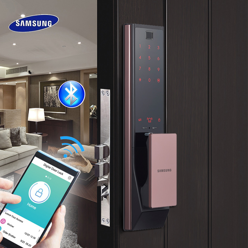 SAMSUNG Digital Fingerprint Bluetooth Door Lock Keyless SHP-DP738/SHP-DP739 EngLish Version Big Eurp Moritse