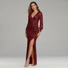 Пикантные Вечерние Платье женское элегантное платье с v образным
