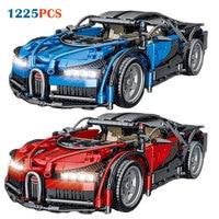 Bugatti 023001 carreras de bloques de construcción de automóviles Modelo Kit de montaje ladrillos juguetes para niños regalos de navidad