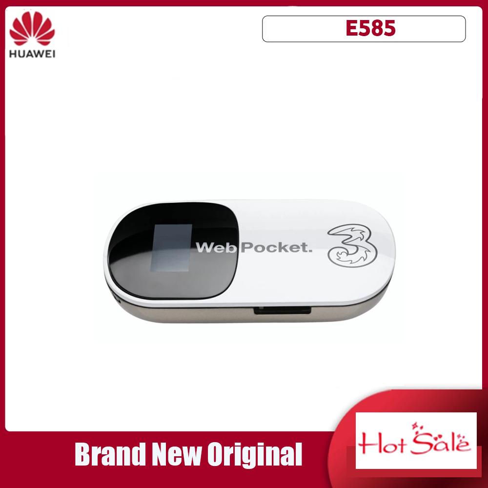 Unlocked Huawei E585 3G Router Mobile Hotspot Pocket MiFi Wireless Car WiFi Modem with SIM Card Slot
