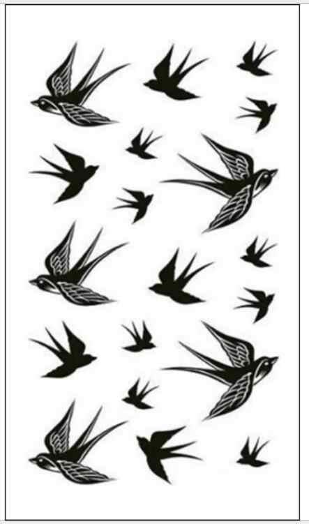 Chống Thấm Nước Tạm Thời Miếng Dán Hình Xăm Bay Chim Hình Xăm Bói Cá Chim Ruồi Tatto Dán Đèn Flash Tatoo Hình Xăm Giả Cho Bé Gái