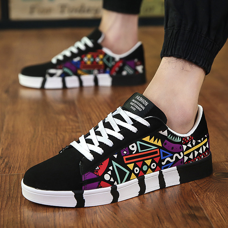 Canvas Shoes Male Footwear Lace-Up Sneakers Summer Lightweight Breathable Casual Fashion