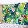 – 90 bis 300cm – *3 Tropen-Motive* Wandteppich / Tischdecke / Tuch, bunte Papageien im Dschungel Geschenk-Ideen | Tapisserie und Tischdecken 10