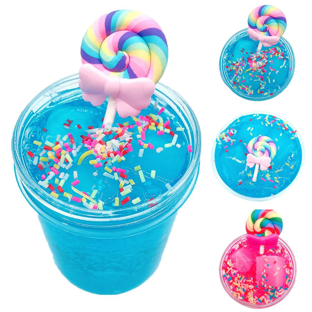 60/120ml Lollipop Crystal Slime Clay Muds Stress Relief Sludge Plasticine Kid Toy Agic Sand Rubber Putty Antistress