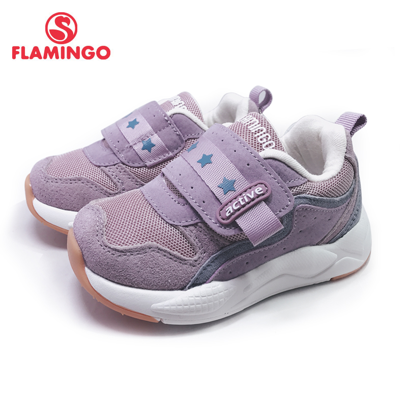 FLAMINGO Spring Sport Running Children Shoes Hook&Loop Outdoor  Sneaker For Kids Size 22-27 Free Shipping 201K-SM-1595