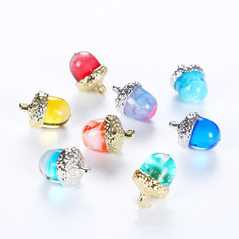 Acorn shape necklace pendant Silicone Mold for jewelry making Resin jewelry tool UV epoxy resin molds decorative craft acorn shaped silicone chain zinc alloy pendant necklace black copper multi colored