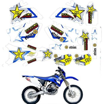 For YAMAHA 2007 - 2014 WR250F 2007 - 2011 450F Customized Number Graphics Backgrounds Stickers Kit Decal