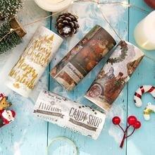 10 упаковок Рождественская лента ручная учётная запись сделай