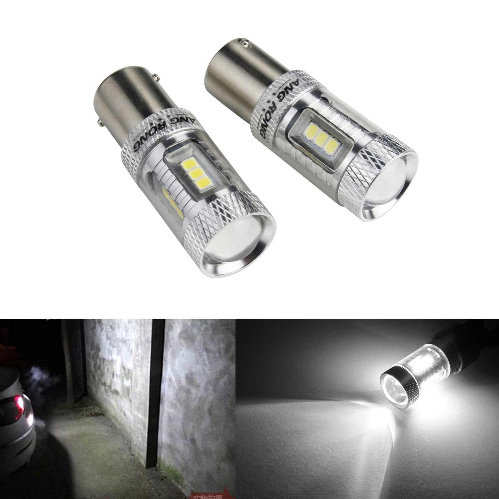 2x Super WHITE BRIGHT 1156 7506 P21W LED DRL Headlight Upgrade BULBS BA15s