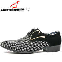 Big size fashion Mens brogue shoes wedding Business dress Nightclubs oxfords Breathable Working lace up shoes RA-10
