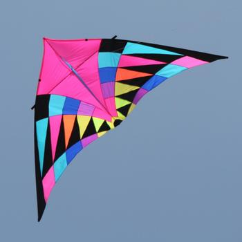 free shipping large rainbow kite windsock delta handle line ripstop nylon fabric kite factory surf eagle kite flying octopus toy 30m beach kite flying single line octopus kite tube shaped soft kite 3d ripstop nylon fabric
