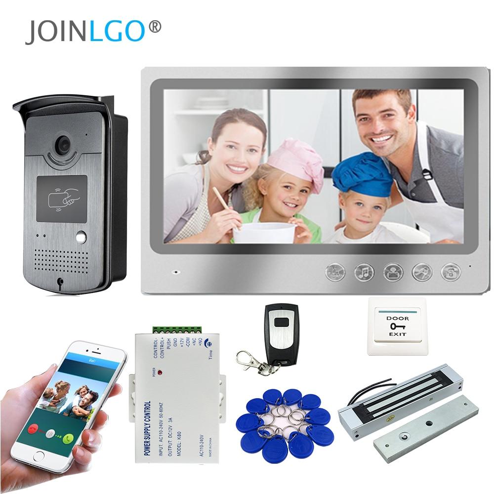 WI-FI IP 9 дюймов Экран видео-телефон двери внутренной связи записи Системы приложение удаленного просмотра разблокировать RFID Камера магнитны...